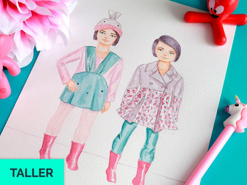 Curso virtual de figurines infantiles en acuarela